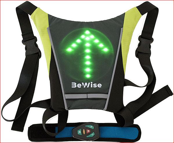 Gilet Vélo Trottinette  LED Lumineux Clignotant Réfléchissant Flèche Gilet Jaune